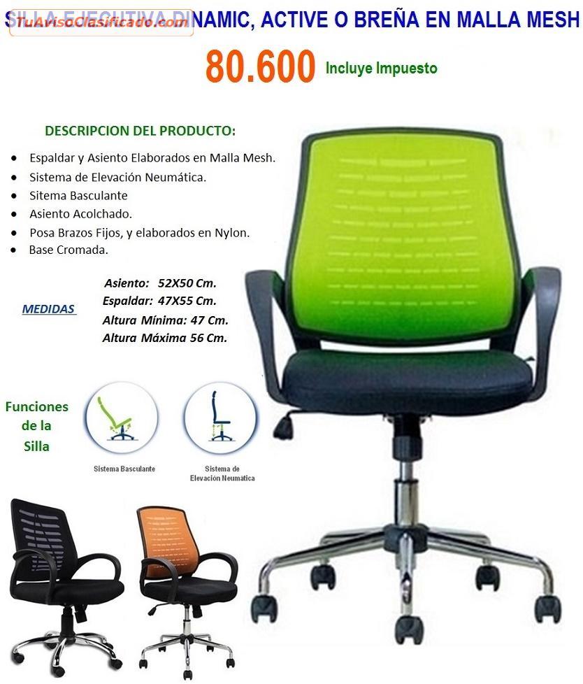 Silla de oficina ejecutiva dinamic ergonomica negra for Sillas de oficina ofertas