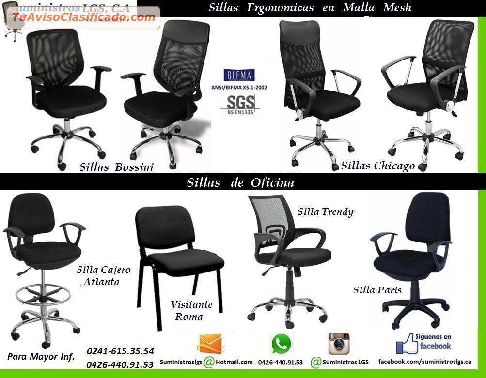 Silla Secretarial Novo Bayka Espaldar Malla Asiento Mesh - Empresa...