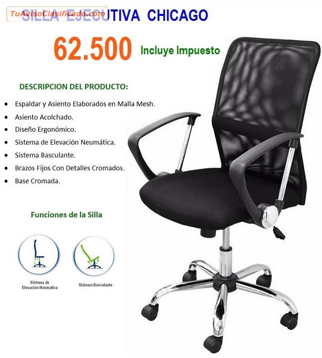 ofertas en sillas ejecutivas en tela y malla mesh