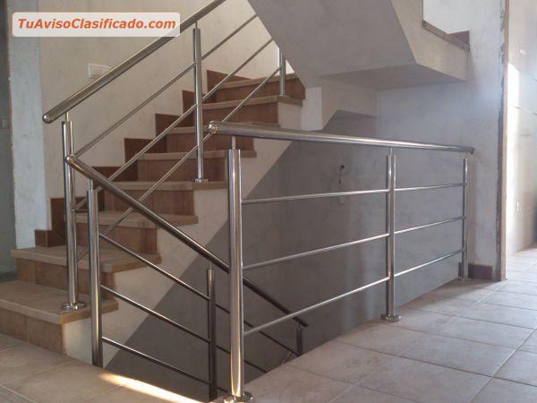 Barandas escaleras pasamanos todo en acero inoxidable for Barandas de escalera