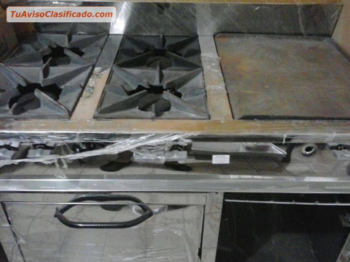 Cocina industrial 4 hornillas plancha horno gratinador - Plancha de cocina industrial ...