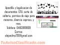 Apostilla y legalización de documentos.