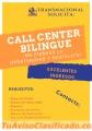 OPERADOR CALL CENTER BILINGUE